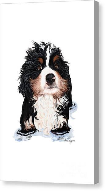 Bernese Mountain Dogs Canvas Print - Rub-a-dub-dub Phone by Liane Weyers