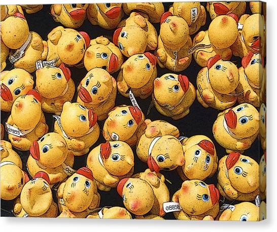 Rubber Duckies Annual Race For Charity Canvas Print by Rob Huntley