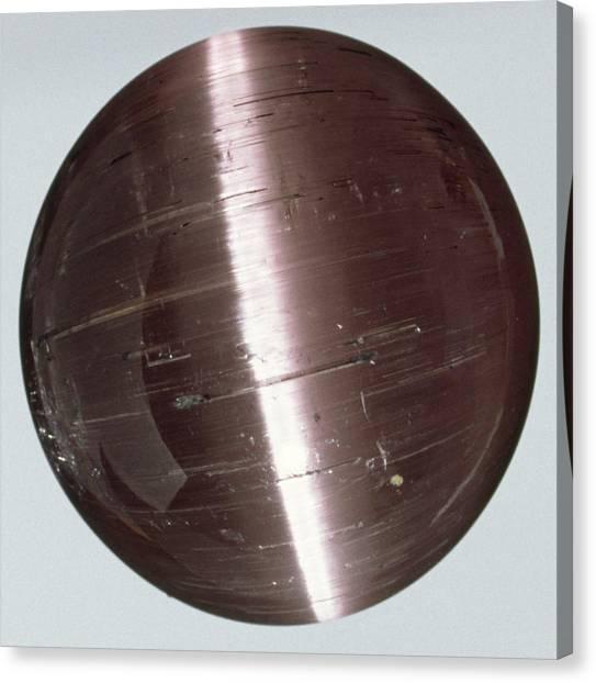 Gemstones Canvas Print - Rubellite (tourmaline) Cabochon by Dorling Kindersley/uig