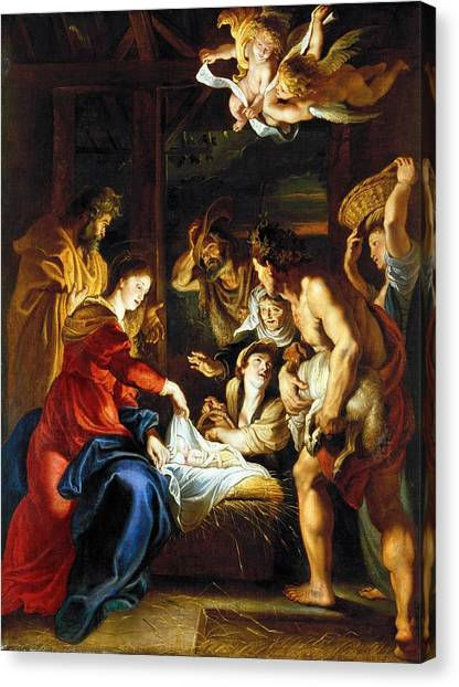 Baroque Art Canvas Print - Rubens Adoration by Granger
