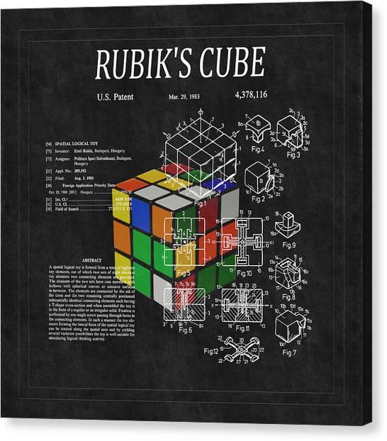 Rubik's Cube Patent 3 Canvas Print