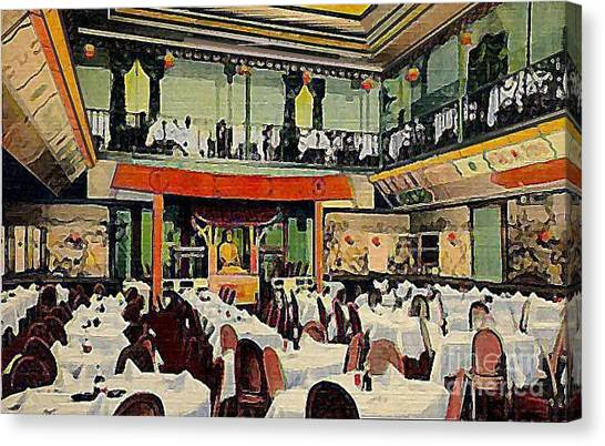Ruby Foo Den Chinese Restaurant In New York City Canvas Print by Dwight Goss
