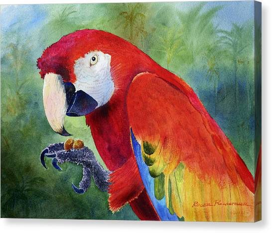 Ruby Having Lunch Canvas Print