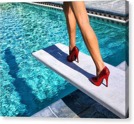Archangel Canvas Print - Ruby Heels Ready For Take-off Palm Springs by William Dey