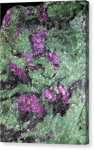 Gemstones Canvas Print - Ruby In Zoisite by Dirk Wiersma