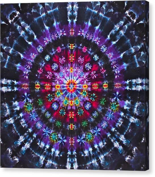 Tie-dye Canvas Print - Ruby Quasar by Courtenay Pollock