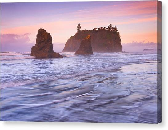 Beach Sunrises Canvas Print - Ruby Sunrise by Darren  White