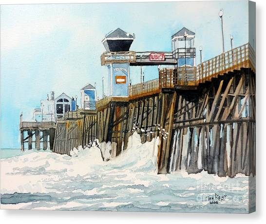 Ruby's Oceanside Pier Canvas Print