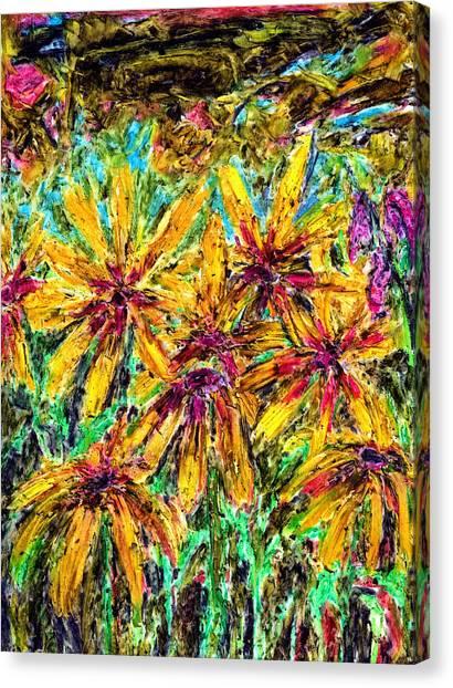 Rudbeckia. The Feeling Of Autumn Canvas Print by Yuri Lushnichenko