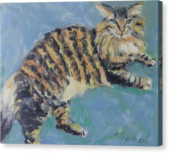 Main Coons Canvas Print - Rudi Now by Bonnie Wilber