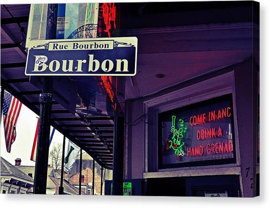 Rue Bourbon Street Canvas Print