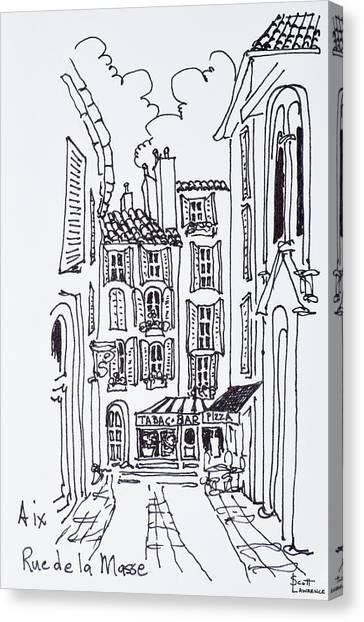 Scotty Canvas Print - Rue De La Masse, Aix En Provence, France by Richard Lawrence
