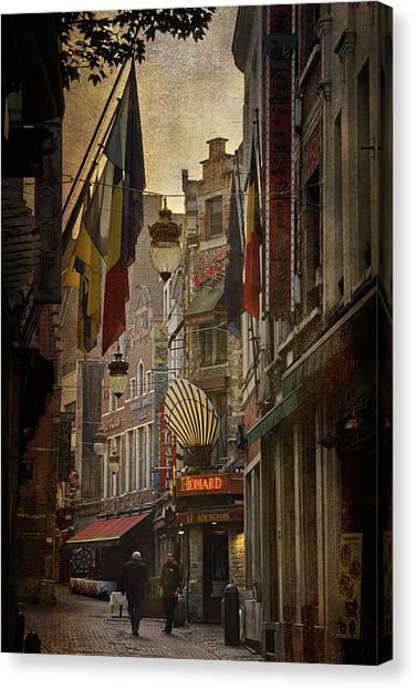 Boucher Canvas Print - Rue Des Bouchers by Joan Carroll