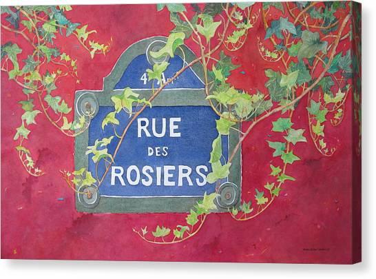 Rue Des Rosiers In Paris Canvas Print