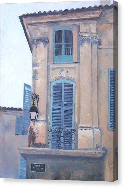 Rue Espariat Aix-en-provence Canvas Print