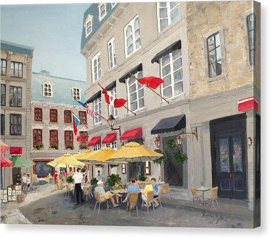 Rue Saint Amable Restaurant Canvas Print