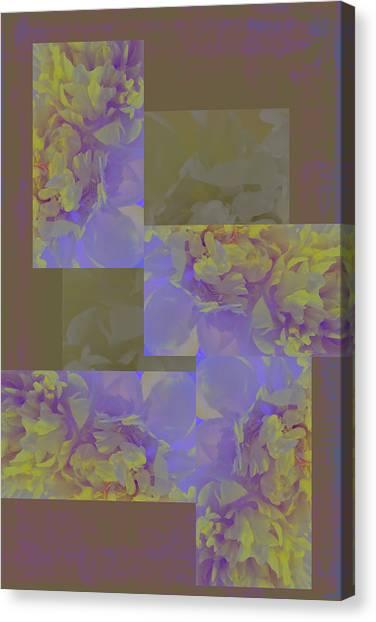 Frank Stella Canvas Print - Ruffles by Linda Dunn