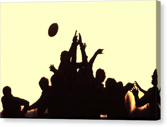 Rugby Line Out Canvas Print