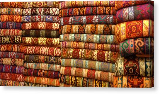 Rugs Kilims Carpets Grand Bazaar Istanbul Turkey Canvas Print by PIXELS  XPOSED Ralph A Ledergerber Photography