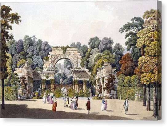 Follies Canvas Print - Ruin In The Garden Of The Palace by Laurenz Janscha