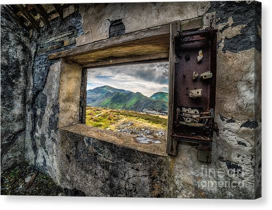 Derelict Canvas Print - Ruin With A View  by Adrian Evans