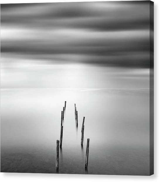 Pier Canvas Print - Ruined Pier 05 by George Digalakis