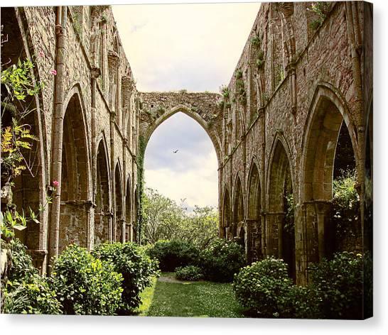Ruins Abbaye De Beauport Paimpol Bretagne Canvas Print
