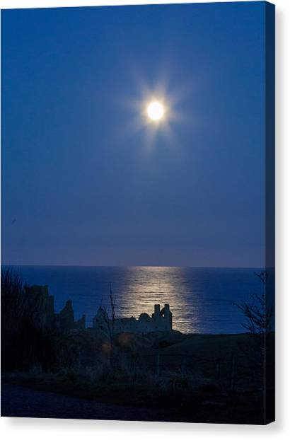 Ruins Moonrise Canvas Print
