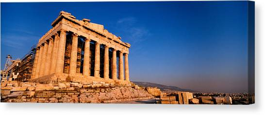The Parthenon Canvas Print - Ruins Of A Temple, Parthenon, Athens by Panoramic Images