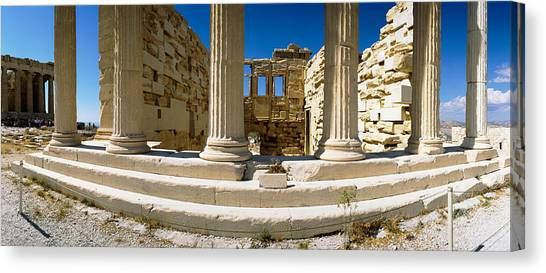 The Acropolis Canvas Print - Ruins Of A Temple, Parthenon, The by Panoramic Images
