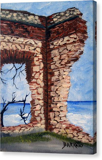 Ruins Of Aguadilla Lighthouse Canvas Print
