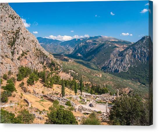 Ruins Of Delphi Canvas Print