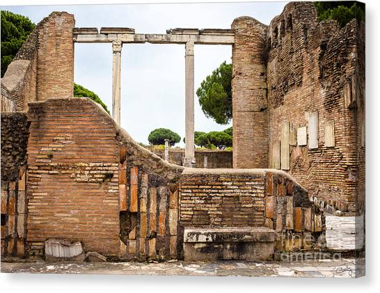 Ruins Of Ostia Antica Canvas Print