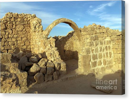 Negev Desert Canvas Print - Ruins Of Shivta by Nir Ben-Yosef