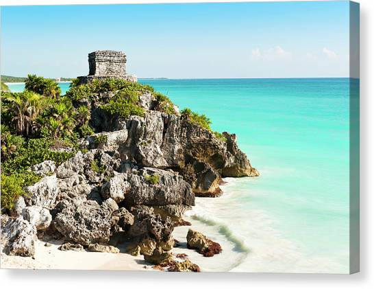 Ruins Of Tulum Canvas Print by Asmithers