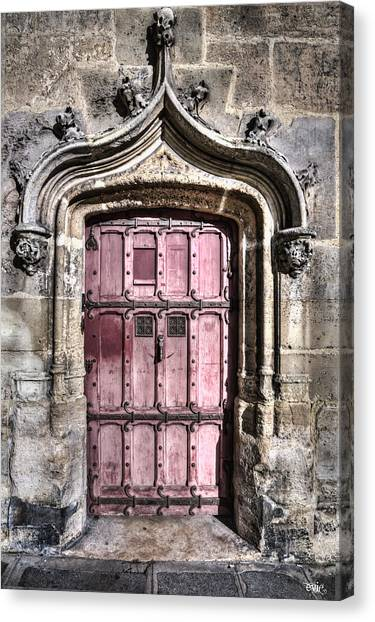 Ruins With Red Door Canvas Print