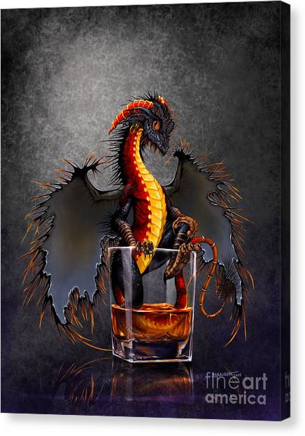 Rum Canvas Print - Rum Dragon by Stanley Morrison