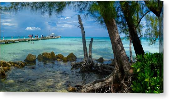 Rum Point Pier Canvas Print