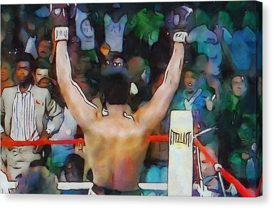 George Foreman Canvas Print - Rumble In The Jungle Ali Wins by Dan Sproul