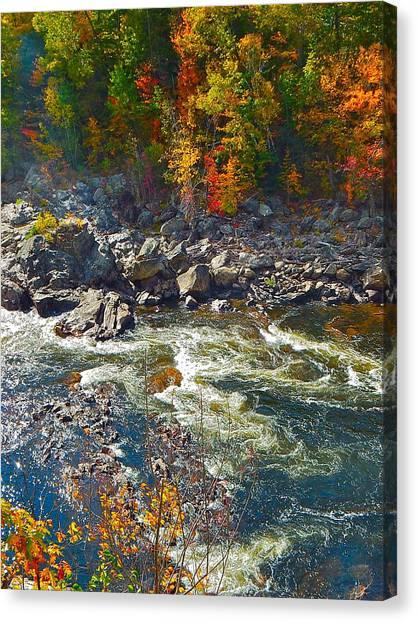 Rumford Falls 15 Canvas Print
