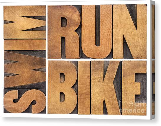Run Bike Swim - Triathlon Concept Canvas Print