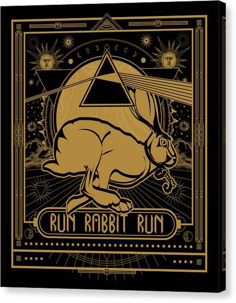 Run Rabbit Run Canvas Print