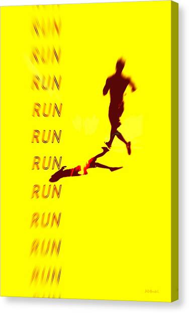 Run Run Run Canvas Print by Brian D Meredith