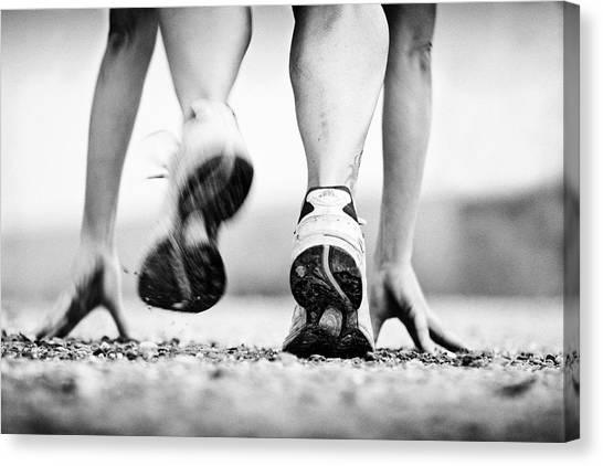 Runner Canvas Print by Heidi Bartsch