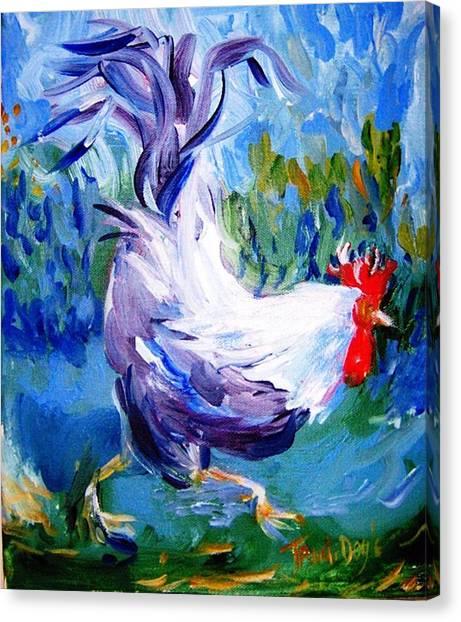 Running Cockerel Canvas Print by Trudi Doyle