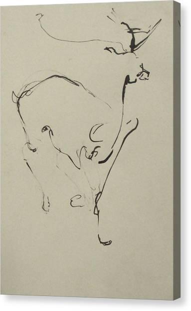 Running Canvas Print by Cynthia Harvey