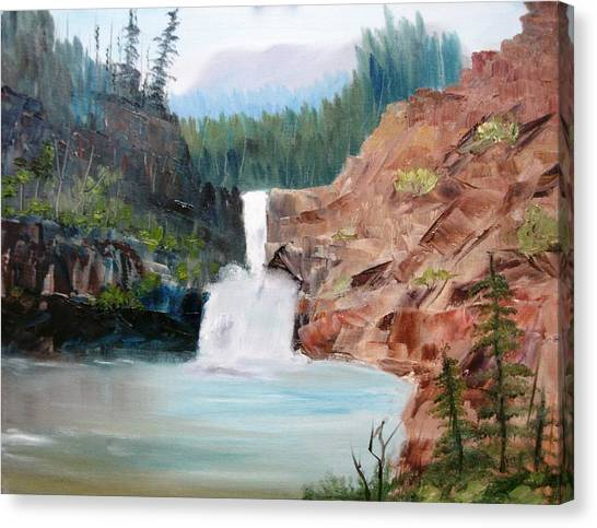 Running Eagle Falls Canvas Print