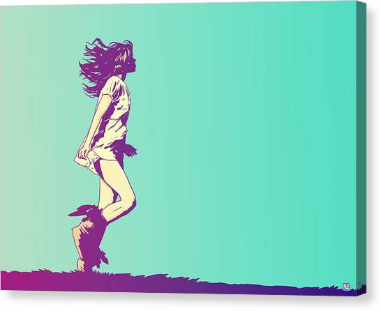 Winds Canvas Print - Running Free by Giuseppe Cristiano