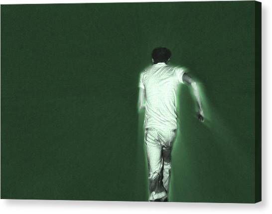 Running In The Green Canvas Print