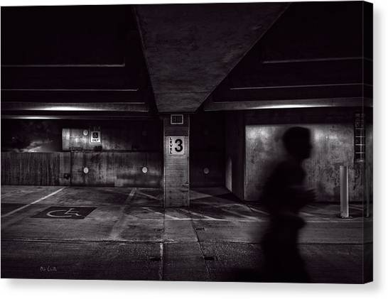 Jog Canvas Print - Running Level Three Night People by Bob Orsillo